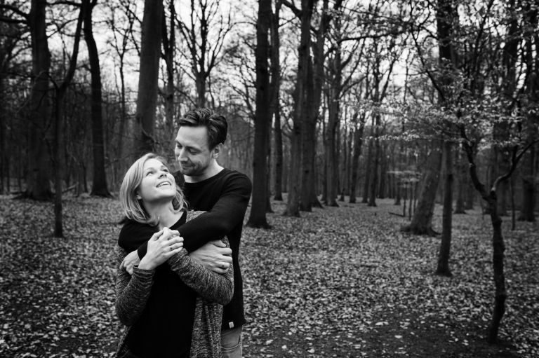 Be-You Two love shoot in de bossen van Heiloo